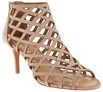 Sole Society Suede Caged High-heeled Sandals - Portia - A255812