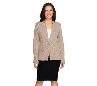 Liz Claiborne New York Textured Ponte Knit Blazer - A258012