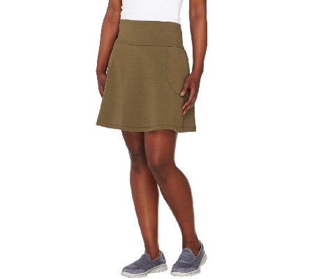 Women with Control Regular Tummy Control Skort with Pockets