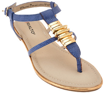 Rialto T-strap Sandals with Hardware Detail - Renegade - A265912