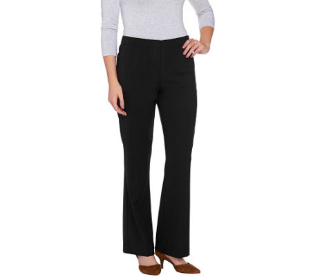 Susan Graver Chelsea Stretch Comfort Waist Boot Cut Pants