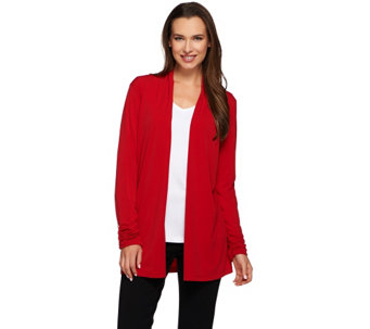 Susan Graver Liquid Knit Long Sleeve Open Front Cardigan - A271512