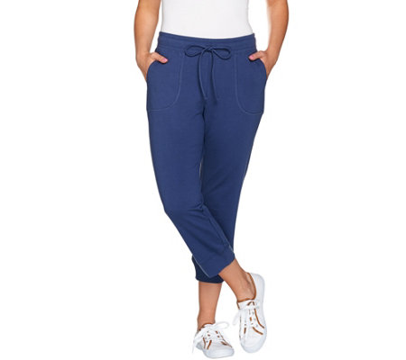 Denim & Co. Active Cropped Jogger Pants with Pockets