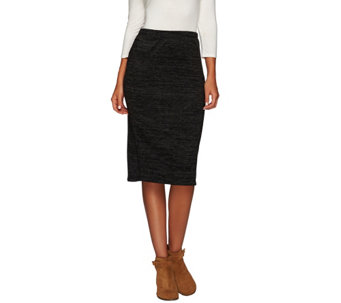 """As Is"" LOGO by Lori Goldstein Pull-On Sweater Knit Column Skirt - A277612"