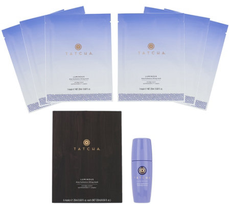 TATCHA Luminous Deep Hydration Firming Serum & 6 Sheet Masks