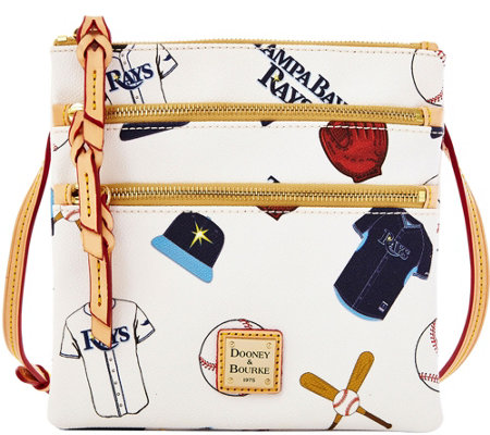 Dooney & Bourke MLB Rays Triple Zip Crossbody