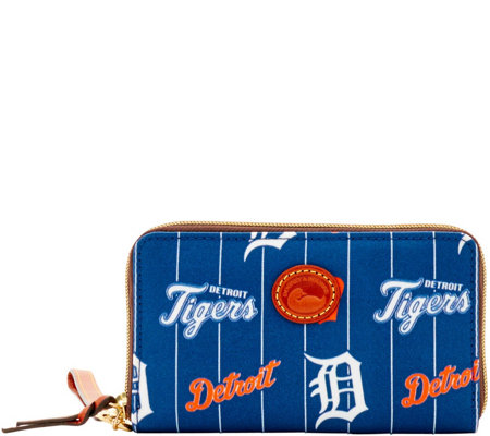 Dooney & Bourke MLB Nylon Tigers Zip Around Phone Wristlet