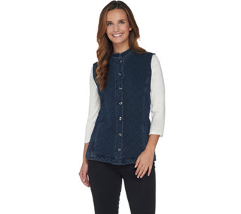 Quacker Factory DreamJeannes Quilted Barn Vest - A281812
