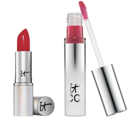 IT Cosmetics CC Lip Serum & Blurred Lines Lipstick Duo Auto-Delivery