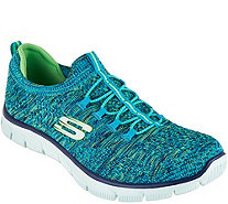 Skechers Flat Knit Bungee Slip-On Sneakers - Sharp Thinking - A288412