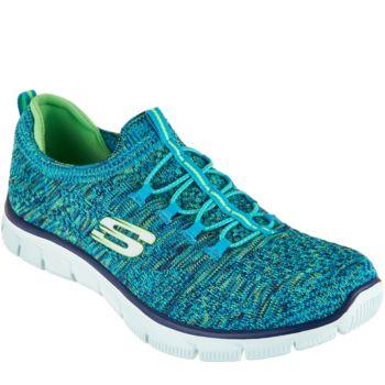 Skechers Flat Knit Bungee Slip-On Sneakers - Sharp Thinking