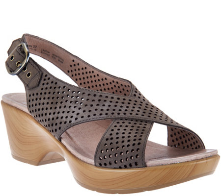 Dansko Nubuck Leather Perforated Sandals - Jacinda