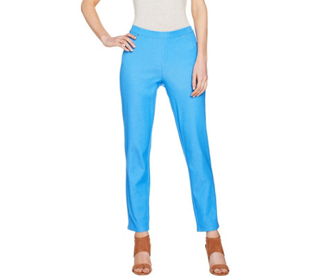 H by Halston Petite Studio Stretch Pull-on Ankle Pants
