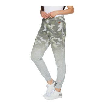 Peace Love World Ombre Printed Fleece Jogger Pants