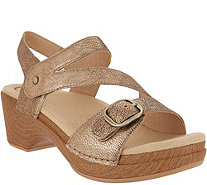 Dansko Leather Asymmetrical Adjustable Sandals - Shari - A304712