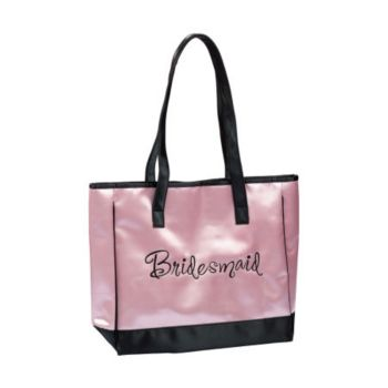 Bridesmaid Pink Satin Tote