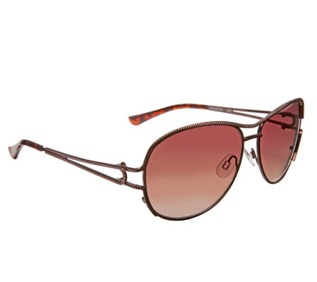 Foster Grant Modern Aviator Sunglasses With Rope Motif