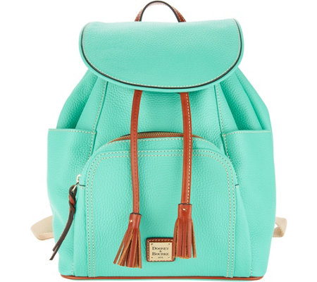 """As Is"" Dooney & Bourke Pebble Leather Large Murphy Backpack"