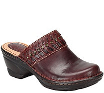Comfortiva Open Back Leather Clogs - Lorain - A359412