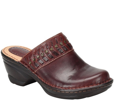 Comfortiva Open Back Leather Clogs - Lorain