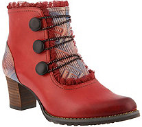 L'Artiste by Spring Step Leather Booties- Conchita - A360112