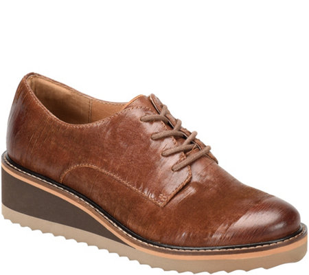 Sofft Lace Up Leather Oxfords - Salerno