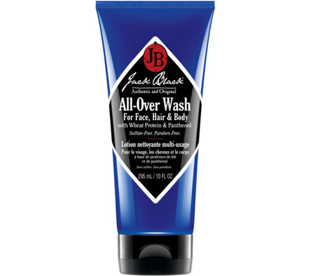 Jack Black All-Over Wash for Face, Hair & Body,10 oz