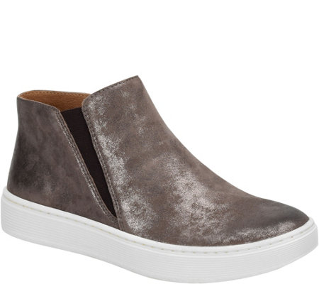 Sofft Slip-On High-Top Leather Sneakers - Britton