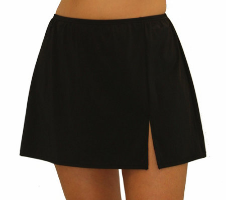 Fit 4 Ur Hips Solid Skirt with Slit - Plus