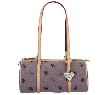 Dooney & Bourke Signature Fabric GirlyCollection Barrel Bag
