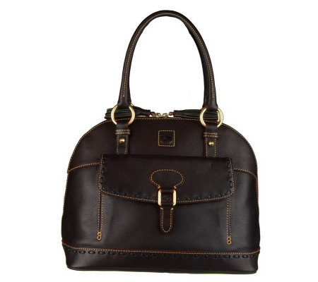 Dooney & Bourke Florentine Leather Domed Satchel