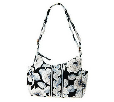 Vera Bradley Signature Print On The Go Hobo