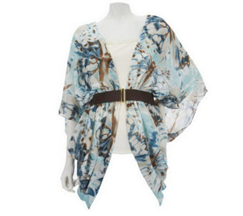 Renee's Reversible Jacket Top w/Built-In Belt by Sure Couture - A223313