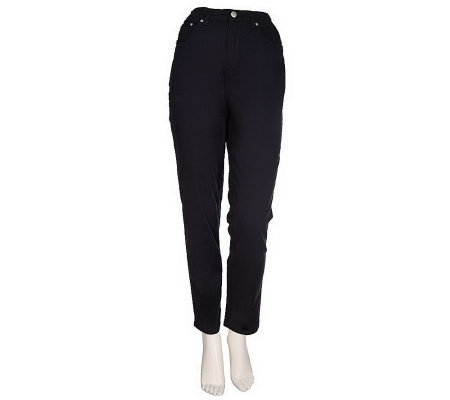 """As Is"" Denim & Co. Tall Classic Waist Five Pocket Stretch Legging"