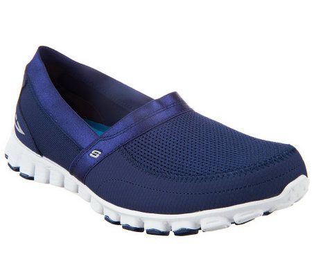 Skechers Flex Memory Foam Lightweight Slip-on Shoes w/ Mesh Detail