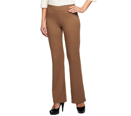 Women with Control Regular Seamed Waist Boot Cut Pants