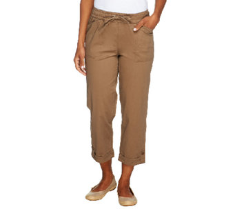Liz Claiborne New York Jackie Pull-On Crop Pants - A252713