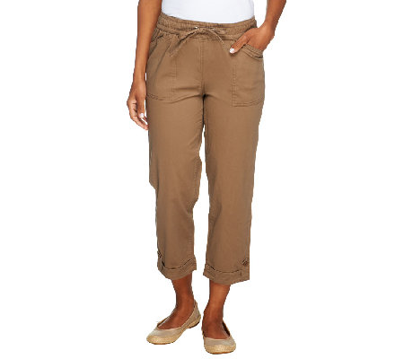 Liz Claiborne New York Jackie Pull-On Crop Pants
