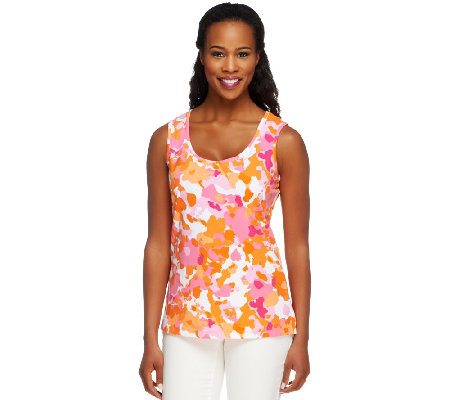 Denim & Co. Perfect Jersey Abstract Print Tank Top