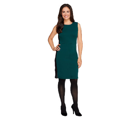 View by Walter Baker Petite Dress with Faux Leather Trim