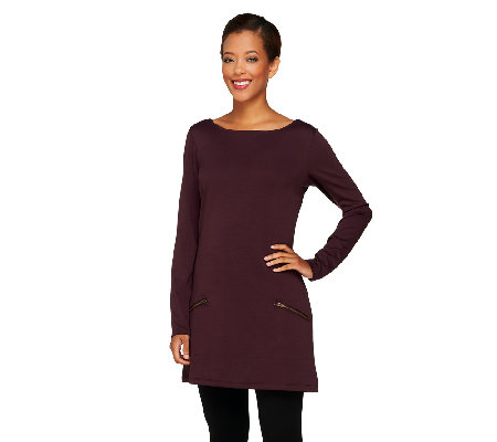 Attitudes by Renee Ponte di Roma Tunic with Zip Pockets