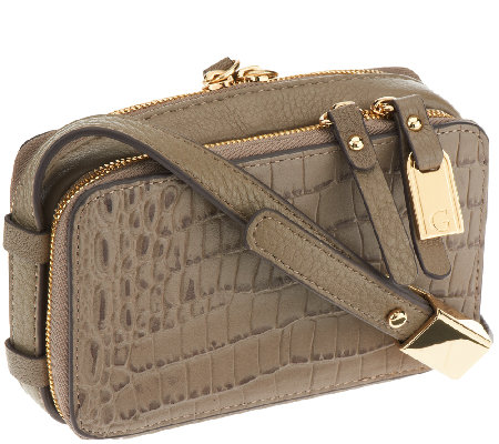 G.I.L.I. Hornback Croco Leather Micro Bag -iPhone 5