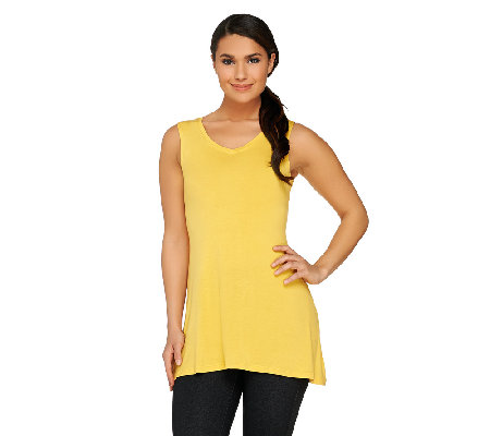 LOGO Layers by Lori Goldstein Hi-Low Hem Tank