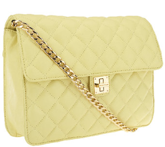 Isaac Mizrahi Live! Medium Bridgehampton Quilted Lamb Leather Bag - A262213
