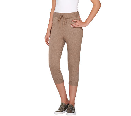 LOGO Lounge by Lori Goldstein Drawstring Waist Crop Pants