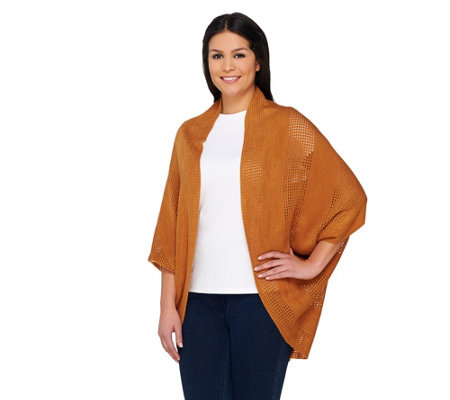 Layers by Lizden Marvelush Open Knit Shrug