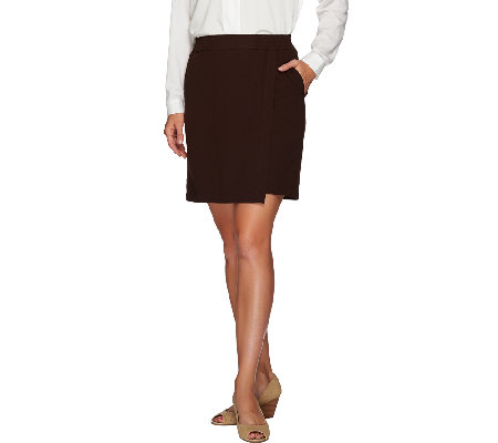 Linea by Louis Dell'Olio Pull-On Enveloped Detailed Skort