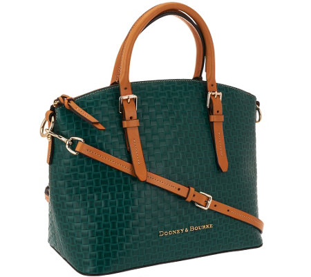 Dooney & Bourke Claremont Woven Embossed Domed Satchel