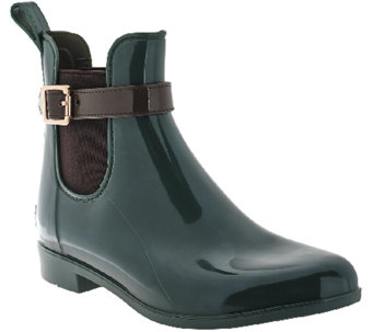 Marc Fisher Ankle Rain Boots w/Buckle - Rainy - A268113