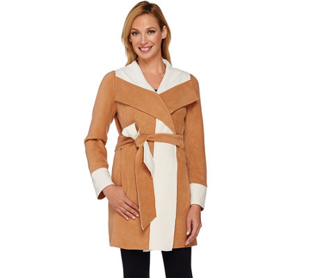Susan Graver Weekend Lightweight Fleece Wrap Jacket